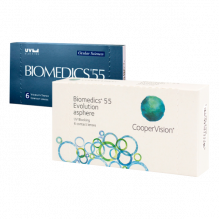 Контактные линзы Biomedics 55 Evolution UV 6 шт